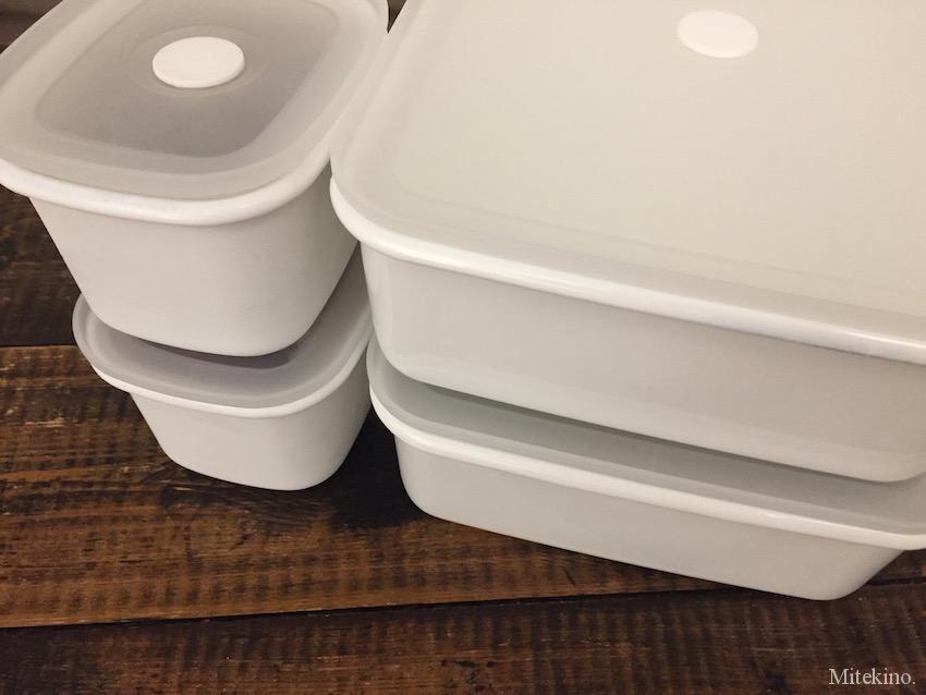 「バルブ付き密閉保存容器シリーズ」[バルブ付き密閉ホーロー保存容器シリーズ」を組み合わせてお使いいただけます。